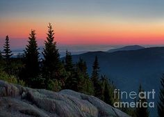 Karen Jorstad - Sunset Over Cadillac Mountain