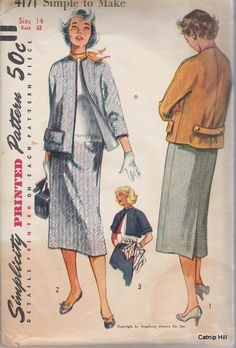 Simplicity 4171 Size 14 Straight Skirt and Jacket door CatnipHill