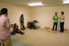 """Joe Dawson '12 during an OBehave improv rehearsal. - Oberlin """"By Oberlin, For Oberlin"""" board"""