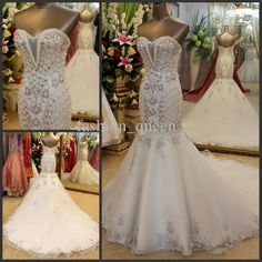 Wholesale Luxurious Swarovski crystals Mermaid style Sweetheart Floor length Beading Beaded Halter wedding dress Wedding gown Evening Dresses, Free shipping, $520.0/Piece | DHgate