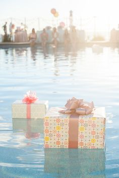 bridal shower - floating presents - how cool is this?!