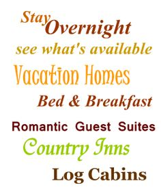 Brown County Indiana overnight lodging