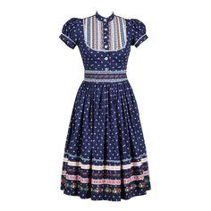 Wally Kleid Kornblume - What´s New - Lena Hoschek Online Shop Best African Dresses, African Traditional Dresses, African Fashion Dresses, Traditional Outfits, Moda Professor, Skirt Fashion, Fashion Outfits, German Fashion, Folk Fashion