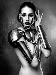 Armor Strangely compelling, Model: Laura Moure Make up: Maria Moreno Barber:...