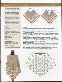 Creative Photo of Crochet Poncho Patterns Crochet Poncho Patterns Beautiful Crochet Knit Poncho Ideas Free Patterns Ponchos Crochet Diagram, Crochet Chart, Love Crochet, Beautiful Crochet, Crochet Stitches, Knit Crochet, Crochet Poncho Patterns, Crochet Jacket, Knitted Poncho