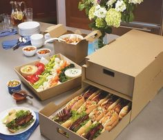 LBP's catering portfolio functions as a complete sustainable experience for consumers.  Each piece is designed to help operators pack food items securely, drop or deliver with ease, and go leaving behind the means to cater a great event