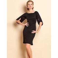 TS Flare Sleeve Bodycon Fishtail Dress – USD $ 23.99