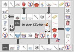 """Ideenreise: Spielfeld """"Geschirr und Besteck"""" für DaZ"""