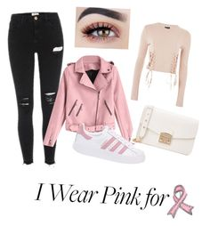 """Pinky"" by marinaaj99 on Polyvore featuring adidas Originals, Furla, Topshop and Bling Jewelry"