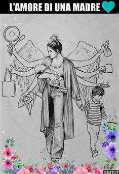 Facing the loneliness of motherhood - Budget Parenting Art Drawings Sketches Simple, Cute Drawings, Abstract Pencil Drawings, Meaningful Drawings, Pregnancy Art, Pregnancy Drawing, Mother Art, Deep Art, Mandala Art