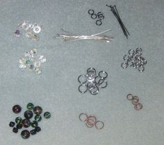 How to make stitch markers:  split rings (those little circles that look like key rings), headpins, and beads