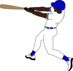 Clip art illustration of an African American baseball player hitting the ball. Description from baseball-clip-art.com. I searched for this on bing.com/images