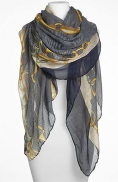 Lulu Equestrian Print Sheer Scarf available at #Nordstrom