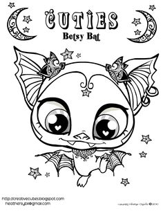 find this pin and more on drawings creative cuties betsy bat free printable coloring page - Kids Colouring Pages To Print