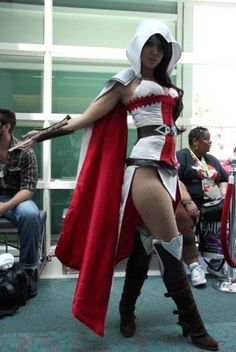Female Ezio, Assassin's Creed cosplay, love this Cosplay Anime, Cosplay Video, Genderbent Cosplay, Assassins Creed Cosplay, Assassin Costume, Cosplay Games, Cosplay Costumes, Anime Sexy, Amazing Cosplay