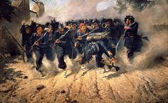 """""""I bersaglieri alla presa di Porta Pia"""", Michele Cammarano, 1871; olio su tela, 290x467 cm; Museo nazionale di Capodimonte, Napoli."""