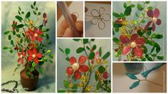 Good time  ...... make flowers from wire and nail polish..... We need: Nail Polish (liquid, medium density), wire, wire cutters, and something that we will cheat the wire - I handle ................. Cut the wire 20-25 cm .............. In the middle segment of the loop twirl it ..... we