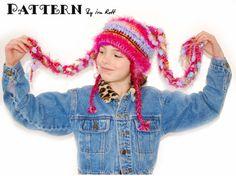 Free FunkyTails Crochet Elf Hat PDF Pattern                Free Funky Tails Crochet PDF Pattern Original design by Ira Rott.