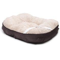 "Petco Gray & Cream Tufted Memory Foam Dog Bed, 39"" L x 35"" W | Petco Store"