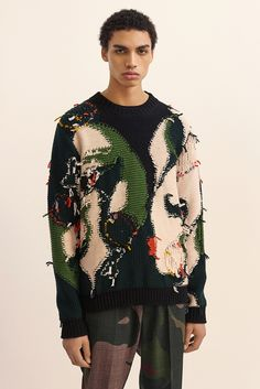 Stella McCartney Men's Knitwear. Stella created this sweater as a tribute to the anniversary of the Beatles iconic film Yellow Submarine. What do you think of this knitwear? Image courtesy of Stella McCartney. Fashion Week Paris, Fashion 2020, Beatles, Stella Mccartney, Paul Mccartney, Knitwear Fashion, Knit Fashion, Fashion Fashion, Womens Fashion