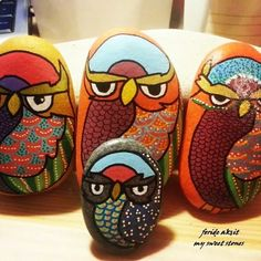 #paintingstone #owl #baykus #taslar