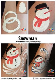 step by step diy face painting snowman, winter, christmas Face Painting Tips, Face Painting Tutorials, Face Painting Designs, Painting Patterns, Painting For Kids, Face Paintings, Christmas Face Painting, Christmas Paintings, Christmas Rock