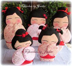 Fofurebas By Jackie: Bonecas Kokeshi da Juju