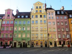 Colorful tenement houses/ Wrocław, Poland
