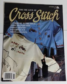 #CrossStitch 22 Patterns Santa Southwest Baby Sampler #Bears #Halloween 11/93