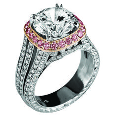 Jack Kelége Platinum and Rose Gold Diamond Ring. #aromabotanical