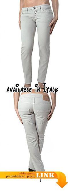 DONDUP pantalone donna - cinque tasche - logo in metallo  Amazon.it   Abbigliamento e00682ba931