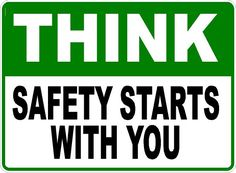 Now Available at Signs by Salagraphics  Think Safety Star... http://salagraphics.com/products/think-safety-starts-with-you-sign?utm_campaign=social_autopilot&utm_source=pin&utm_medium=pin Great Deals on Signs and Decals