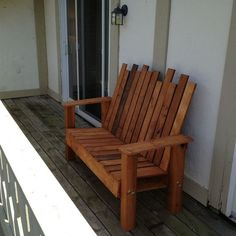 DIY Pallet Projects & Ideas | DIY Patio Bench | Amazing Do It Yourself Projects Made With Wooden Pallets | Living Room, Bedroom, Indoor and Outdoor, Kitchen, Patio. Coffee Table, Couch, Dining Tables, Shelves, Racks and Benches http://www.thrillbites.com/35-diy-pallet-projects-ideas