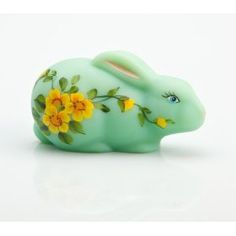 Sitting Jade Green Milk Glass Bunny Hand Painted Butter Cup.  List Price: $59.99  Sale Price: $27.99  Savings: $32.00