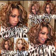 ***Client Selfie Saturday *** She brings the slay in this fabulous collage. She's wearing Kima Ocean Wave crochet braids in colors This color blend is everything! Crochet Senegalese Twist, Curly Crochet Braids, Curly Crochet Hair Styles, Crochet Braid Styles, Curly Hair Styles, Natural Hair Styles, Natural Beauty, Over 60 Hairstyles, Black Girls Hairstyles