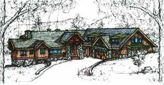 I Love the idea that when you walk through the front door the first thing you see is the view. BRILLIANT!! Floor plan is HOT! Craftsman Style House Plans - 3590 Square Foot Home , 2 Story, 4 Bedroom and 4 Bath, 4 Garage Stalls by Monster House Plans - Plan 69-926