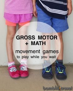5 Math & Movement Games to Play While You Wait | Preschool STEM + Gross Motor + Family Travel in one | Bambini Travel