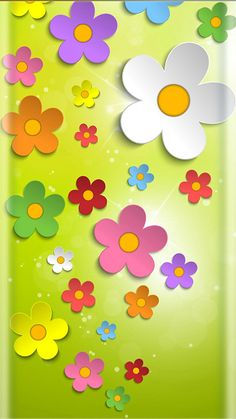 New Ideas Flowers Wallpaper Spring Colour Flowery Wallpaper, Spring Wallpaper, Heart Wallpaper, Kitty Wallpaper, Phone Screen Wallpaper, Colorful Wallpaper, Cellphone Wallpaper, Wallpaper Backgrounds, Iphone Wallpaper