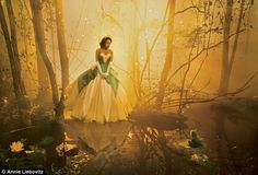 """""""The Princess and the Frog"""" with Jennifer Hudson as Tiana - Disney Dream Portraits by Annie Leibovitz"""