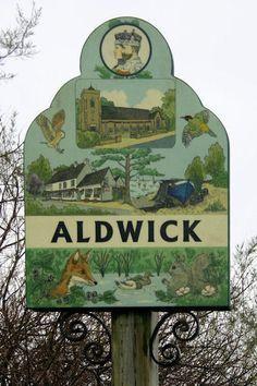 English Village Signs Bognor Regis, English Village, Decorative Signs, Shop Signs, Vintage Signs, Country Life, Great Britain, The Locals, Signage