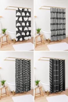 This extra long black and white shower curtain is great for black and white master bathroom decor, black and white bath, black and white ideas for the bathroom, a modern black and white bathroom, whether you have a bohemian style bathroom, into boho bathroom decor, or looking for a more farmhouse shower curtain. See more at my Etsy shop! Bohemian Shower Curtain, Extra Long Shower Curtain, Long Shower Curtains, Modern Boho Bathroom, Masculine Bathroom, White Bathroom Decor, Tribal Decor, Boho Decor, Black And White Master Bathroom