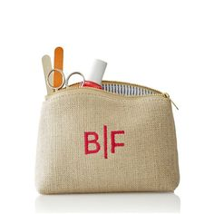 Linen Cosmetic Case   Mark and Graham