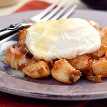 Mexican Potato Hash with Poached Eggs