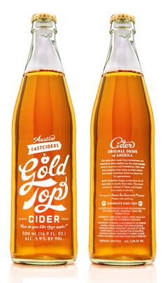Gold Top Cider bottle design