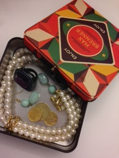 Reuse Idea: Never lose an earring again! Store all of your favorite pieces in a colorful MB tin. Throw on the lid, throw it in your purse and you'll be ready to accessorize wherever you go.
