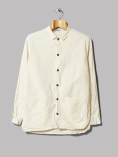 Tender Double Cuff Flat Shirt (Rinsed Cotton Calico)