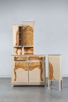 Printing on birch - lovely  Mieke Meijer: Buffetkast