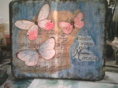 Art Journal page by Laura Young. Good way to brighten up a page.