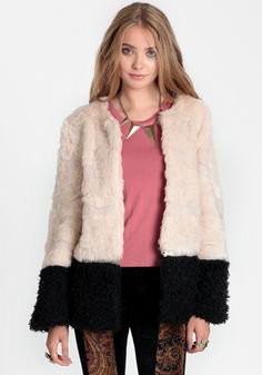 Cultured Company Faux Fur Jacket By Aryn K - $82.50 : ThreadSence, Women's Indie & Bohemian Clothing, Dresses, & Accessories