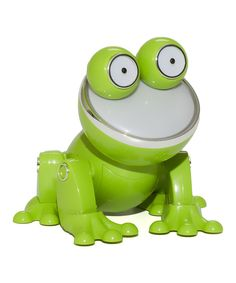 Green Froggy #Frog Dancing Speaker by HobbyTron #ZULILY frogs-fully-rely-on-god